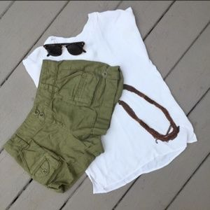 Olive army green shorts
